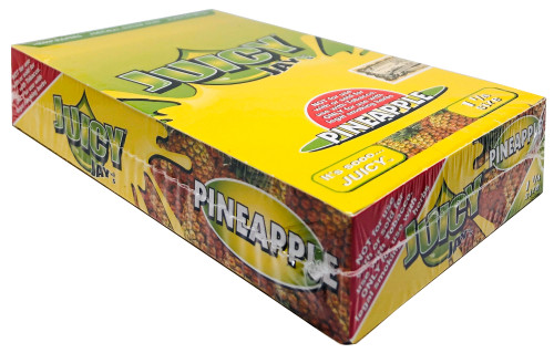 Juicy Jay's Pineapple 1.25 Flavored Hemp Rolling Papers Box