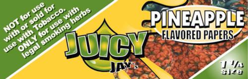 Juicy Jay's Pineapple 1.25 Flavored Hemp Rolling Papers Single