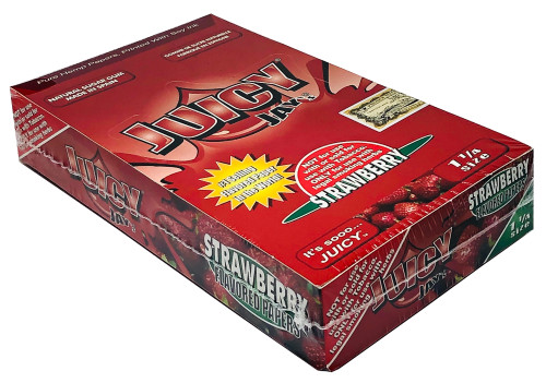 Juicy Jay's Strawberry 1.25 Flavored Hemp Rolling Papers Box