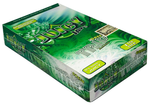 Juicy Jay's Green Trips 1.25 Flavored Hemp Rolling Papers Box
