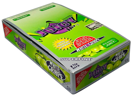 Juicy Jay's White Grape 1.25 Flavored Hemp Rolling Papers Box