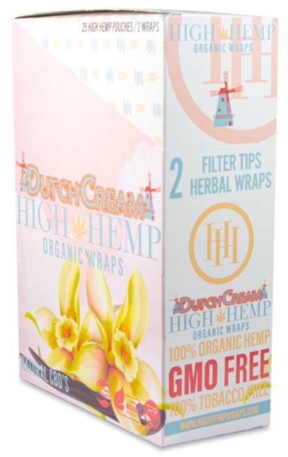 High Hemp Flavored Organic Hemp Wraps Dutch Cream Box