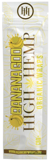 High Hemp Flavored Organic Hemp Wraps Banana Goo Single