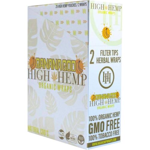High Hemp Flavored Organic Hemp Wraps Banana Goo Box