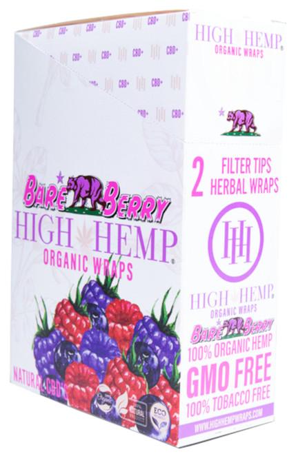 High Hemp Flavored Organic Hemp Wraps Bare Berry Box