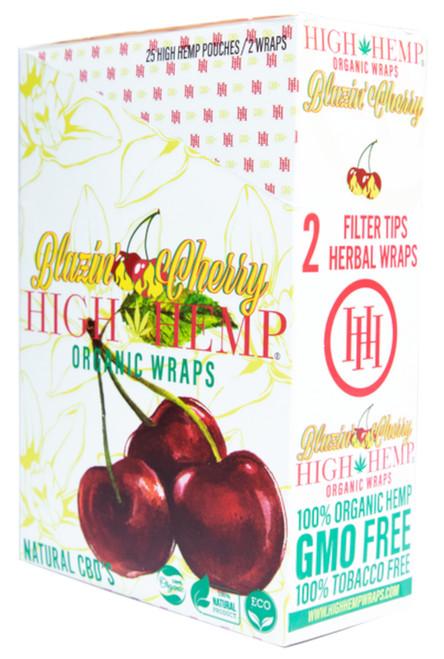 High Hemp Flavored Organic Hemp Wraps Blazin' Cherry Box