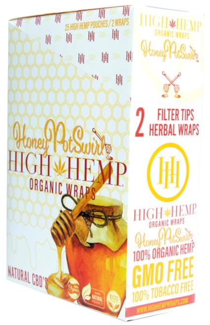 High Hemp Flavored Organic Hemp Wraps Honey Pot Swirl Box