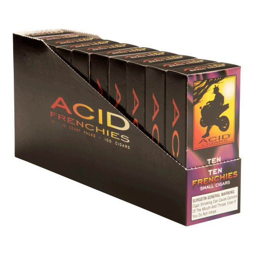 Acid Cigarillo Frenchies Cigars - 3.75 x 20 (10 Packs of 10 (100 total))