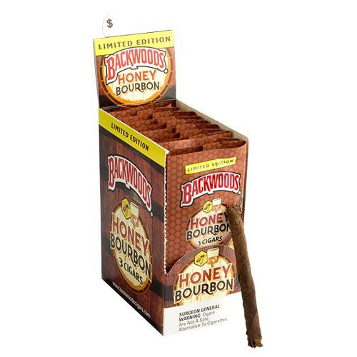 Backwoods Cigars Honey Bourbon Cigars - 4.5 x 32 (10 Packs of 3 (30 total))
