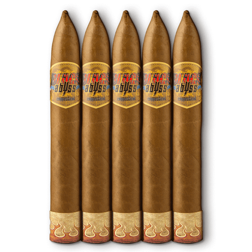 Black Abyss Connecticut Hydra Cigars - 6 x 52 (Pack of 5)