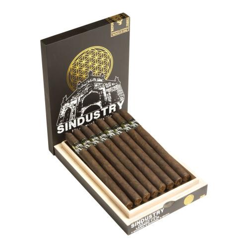 Black Works Studio Sindustry Lancero Cigars - 7 x 38 (Box of 16)