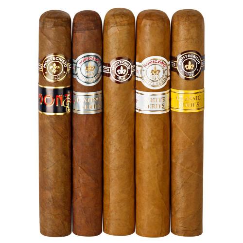 Cigar Samplers Monte Lovers 5-Cigar Sampler Cigars (Pack of 5)