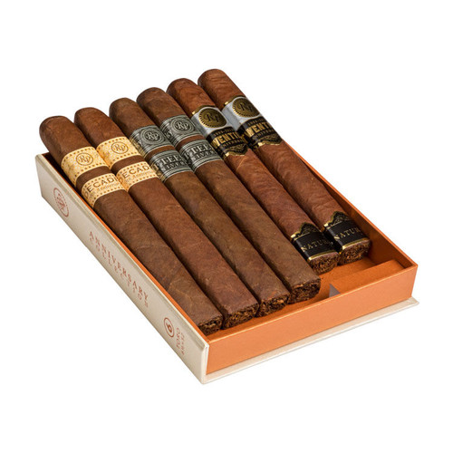 Cigar Samplers Rocky Patel Anniversary Collection Gift Set Cigars (Pack of 6)