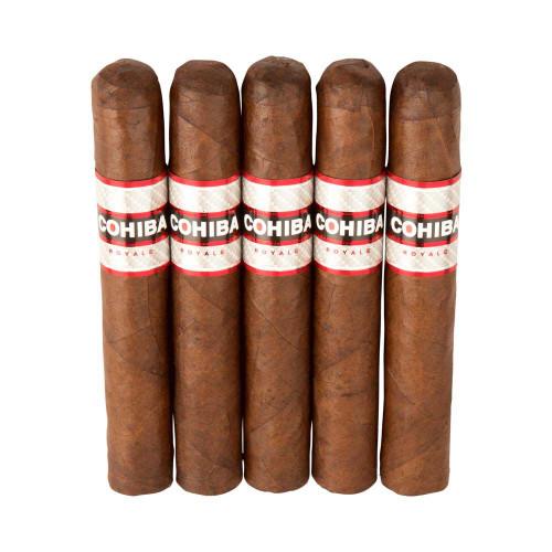 Cohiba Royale Robusto Royale Cigars - 5.5 x 54 (Pack of 5)