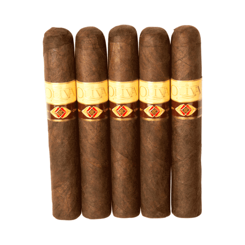 Crafted by Oliva Maduro Robusto Cigars - 5 x 50 (Pack of 5)