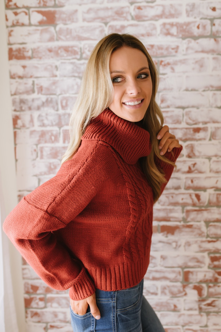 1e80449a65 ... Jack by BB Dakota Say Anything Sweater - Burnt Orange - FINAL SALE. 1