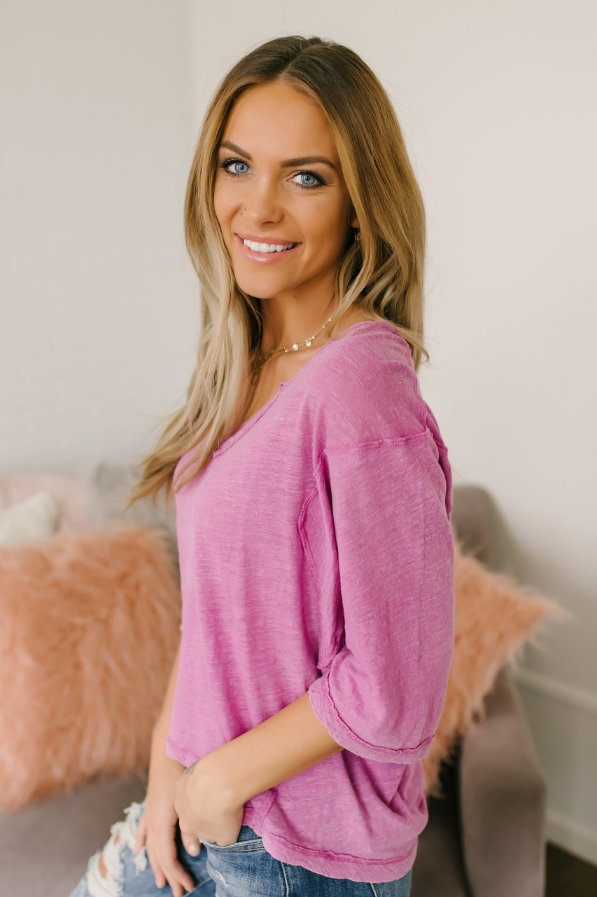 1aed97a4c3 Free People Head in the Clouds Burnout Top - Purple
