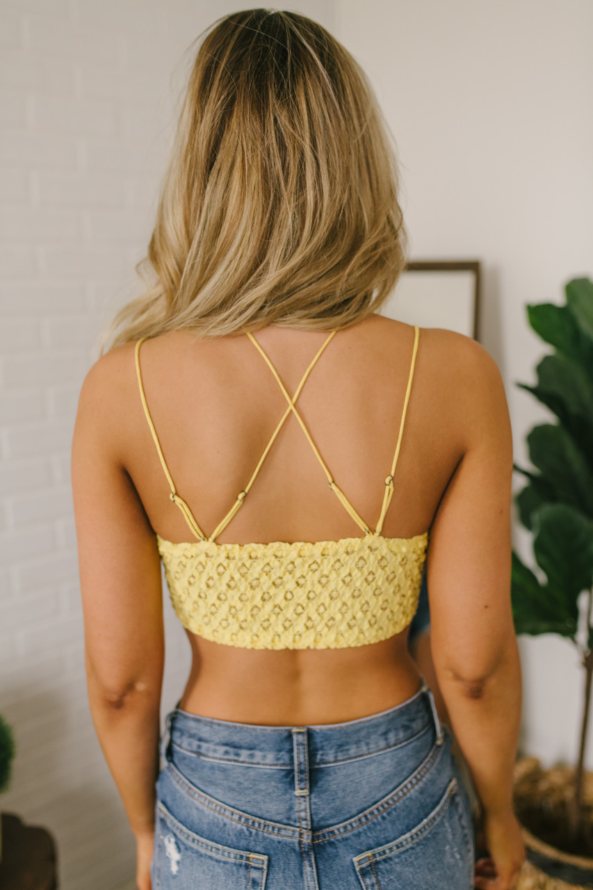 258cf6a1e40e7 Free People Adella Bralette - Light Yellow