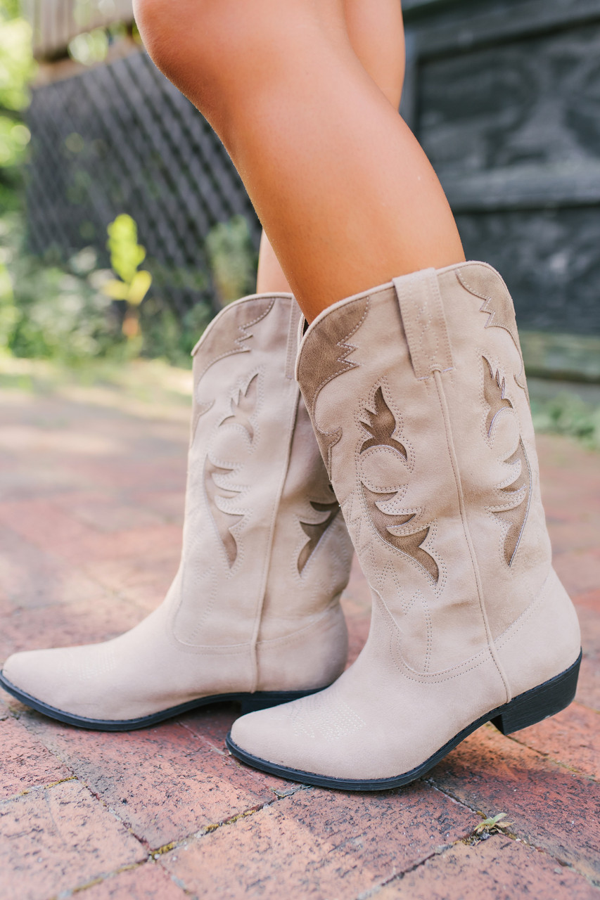 f31cf4c7e55 Coconuts by Matisse Bandit Cowboy Boots - Taupe