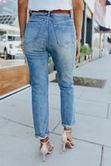 Dreamland Distressed Medium Wash Boyfriend Jeans