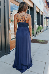 Romantic Evening Lace Bralette Navy Maxi