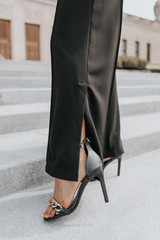 Drinks After Work Black Palazzo Pants