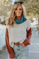 Pike Peak Turtleneck Colorblock Sweater