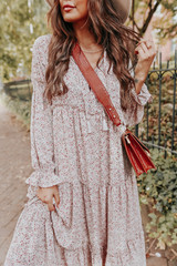 Winsome Ditsy Floral Tiered Babydoll Maxi