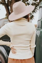 Romantic Fable Turtleneck Cream Ribbed Sweater