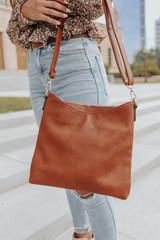Weekend Adventure Brown Crossbody Bag
