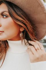 Breezy Leaf Gold Dangle Earrings