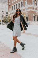 Kennedy Square Neck Black Gingham Dress
