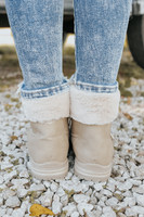 Dirty Laundry Altitude Taupe Nubuck Booties