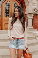 Griffith Park Oatmeal Crew Neck Sweater
