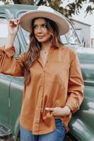 Autumn Spice Caramel Pocket Shirt