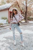 Dawn Multi Stripe Textured Sweater