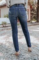 Hepburn Distressed Dark Wash Cigarette Jeans