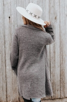 Button Detail Coco Two Tone Cardigan