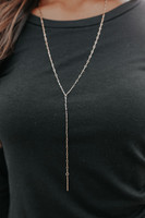 Chain Reaction Gold Y Necklace