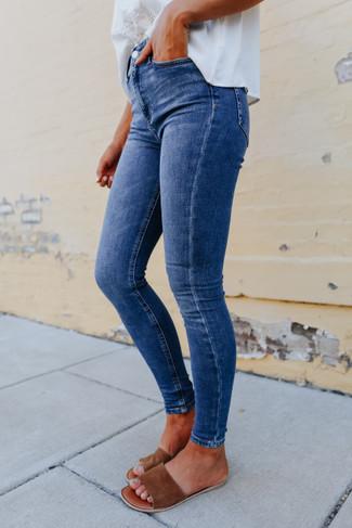 Free People Montana Lake Blue Skinny Jeans