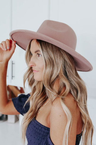 Amore Wide Brim Khaki Hat
