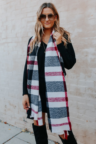 Mad For Plaid Oblong Scarf
