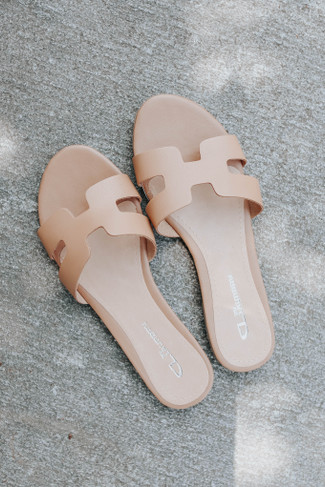 CL By Laundry Artist Natural Leather Sandals - FINAL SALE