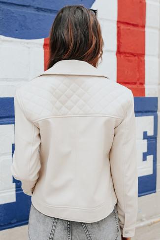 BB Dakota Going Places Bone Moto Jacket