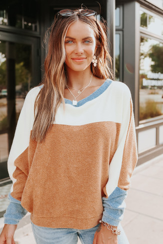 Free People Blue Monday Fleece Pullover