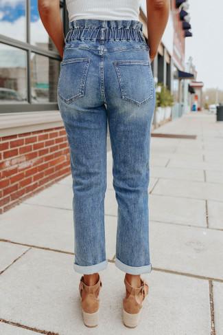 Brooke Paperbag Dark Wash Jeans