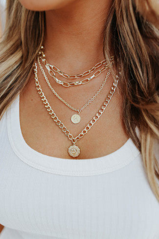 Golden Muse Layered Necklace
