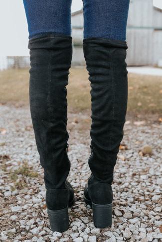 Dirty Laundry Linzy Black Suedette Boots