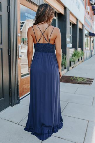 Romantic Evening Lace Bralette Navy Maxi - FINAL SALE