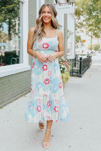 Summertide Floral Ruffle Hem Midi Dress - FINAL SALE